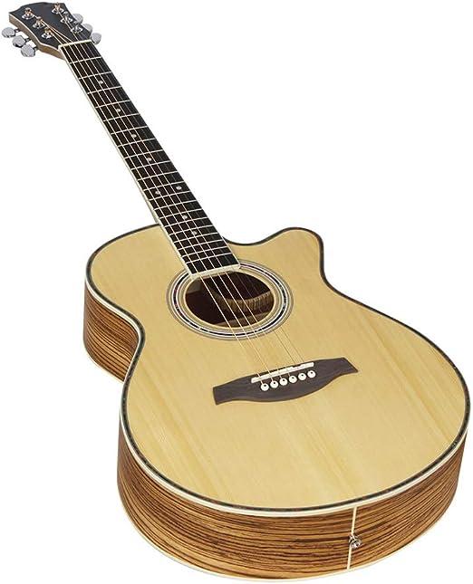 NUYI-4 Genuino 40 Pulgadas Guitarra acústica Cebra Calidad de la ...