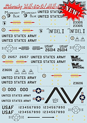 DECAL FOR AIRPLANE SIKORSKY UH-60A/MH-60G AIRCRAF 1/48 for sale  Delivered anywhere in USA