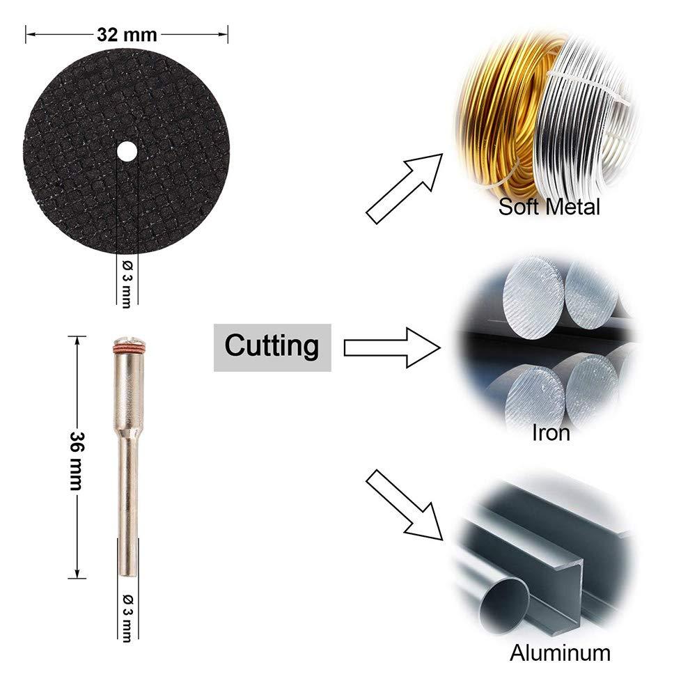3 mm, mandrilo metal WZRYJS paquete de 30 unidades minihoja de sierra circular HSS piedra para madera Mini disco de corte de diamante