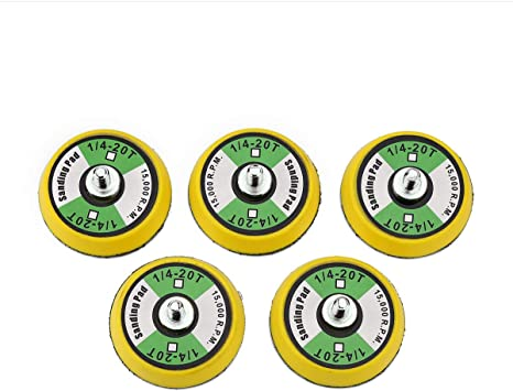 5//16-24 Threads Aispor 3 Inch Hook and Loop Backing Pads 5PCS Polishing Buffing Plate for Dual Action Car Polisher