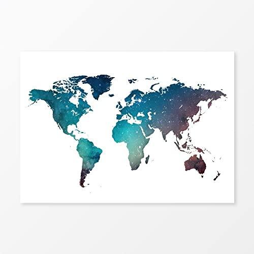 Amazon galaxy world map watercolor wall art print 8x10 handmade galaxy world map watercolor wall art print 8quot gumiabroncs Gallery