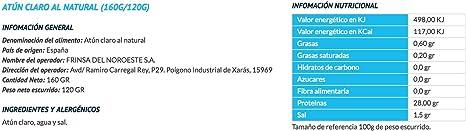Ribeira Proteina Natural - Atún claro - 1 lata de 160gr ...