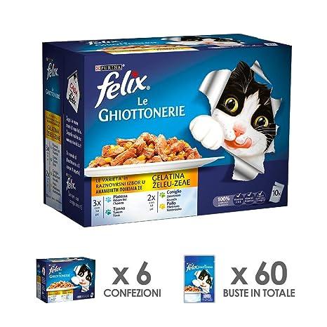 Felix Le ghiottonerie Comida para el Gato, le Varietà, con platessa, imantado con