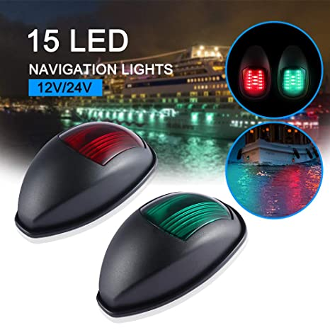 Amazon.com : Powstro Boat Yacht LED Light, 2pcs Green and Red Marine on boat dock wiring schematics, boat lighting diagram, boat wiring information, marine electrical system diagram, bass tracker ignition switch diagram, boat navigation lights port, boat switch diagram, outboard motor ignition switch diagram, boat navigation pole lights, boat nav light switch, port and starboard ship diagram, boat navigation side lights, boat nav lights wiring for dummies, boat wiring fuse box diagrams, boat navigation lights anchor, boat navigation light system,