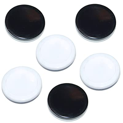 Othello Game - 6 Replacement Discs - Black & White Reversible Pawns/Pieces: Toys & Games