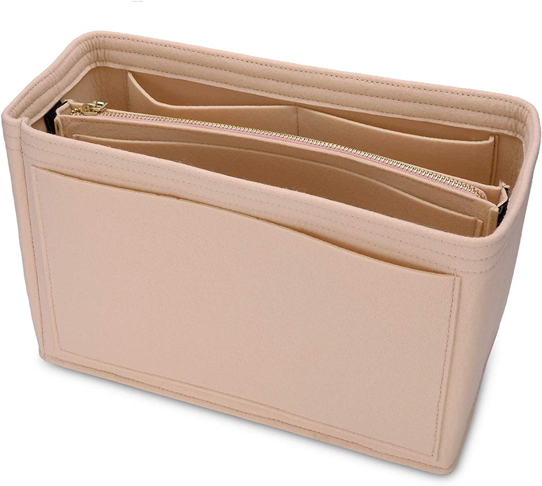 MA STRAP Purse Organizer with Detachable Zipper Pouch Multipurpose Felt Insert Bag Fit Speedy Neverfull Longchamp Tote