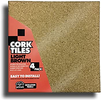 "12 x 12"" Light Brown Cork Tiles - Pack of 4"