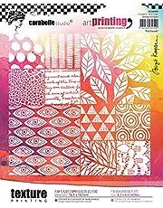 Carabelle Studio APCA60004 Carrabelle Studio Art Printing Square Rubber Texture Plate Patchwork, Multicolor