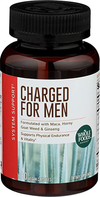 Whole Foods Market, Charged For Men, 60 ct