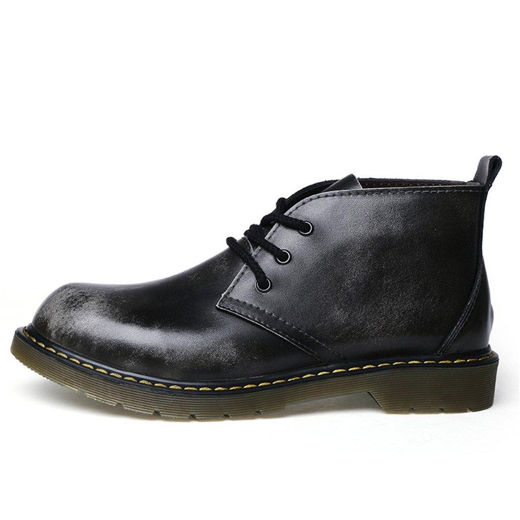 ZQ@QXAutunno e Inverno stivali scarpe di cuoio testa uomo ma Dingxue,marrone,42