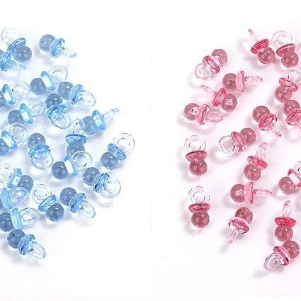 MINGZE 100 piezas de acrílico plástico lindo azul y rosa ...