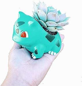 4'' Bulbasaur Mini Planter Pot - Great for Plants, Succulents, Echeveria, Jade Plant | Small Size 10cm Tall Flowerpot