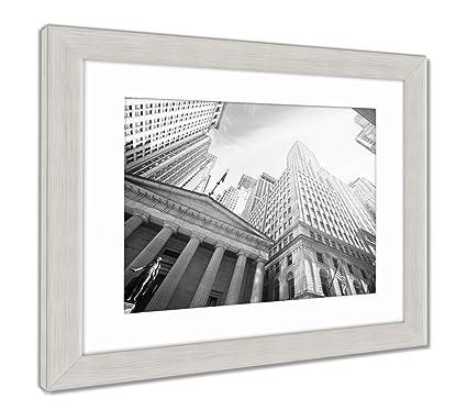 Amazon.com: Ashley Framed Prints Vintage Toned Wall Street at Sunset ...