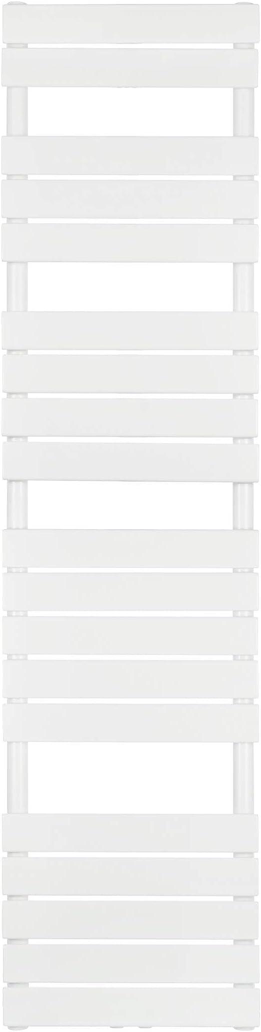 VILSTEIN Bad Heizkörper, Flach, Weiß, Seitenanschluss und Mittelanschluss,  15x15 mm