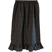 Making Believe Teen/Petite Women's Calico Pioneer Ruffle Skirt (Choose Color and Size)