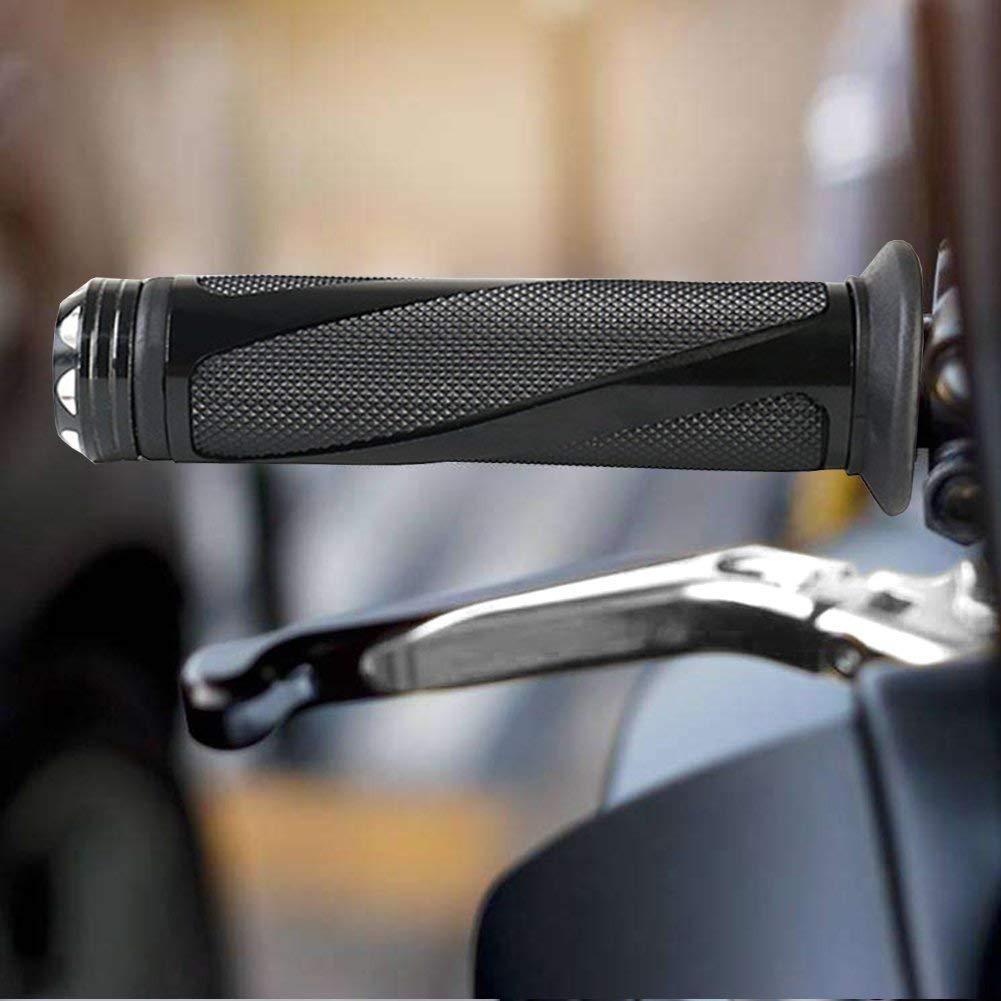 Delleu Moto Manillar de Goma Universal Aluminio 7//8 Apretones de la Mano para Yamaha Honda Kawasaki Ninja