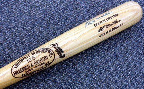- Eddie Mathews Signed Louisville Slugger Bat - PSA/DNA Authentication - Autographed MLB Baseball Bats