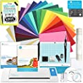 Silhouette CAMEO 2 Starter Bundle with 24 Oracal 651 Sheets, Transfer Paper, Guide, Class, Tattoo Paper, Sticker Paper, and More