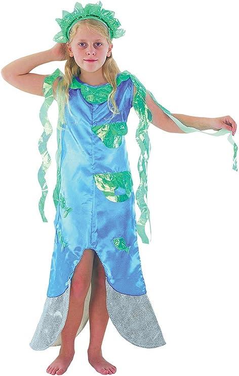 Theme Fancy Dress Disfraz infantil de niña de Sirena. 10-13 años ...