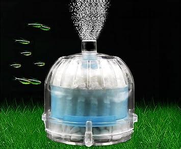 LONDAFISH Filtro neumático bioquímico Activado del Acuario del Filtro de Carbono del Mini Acuario (Blanco