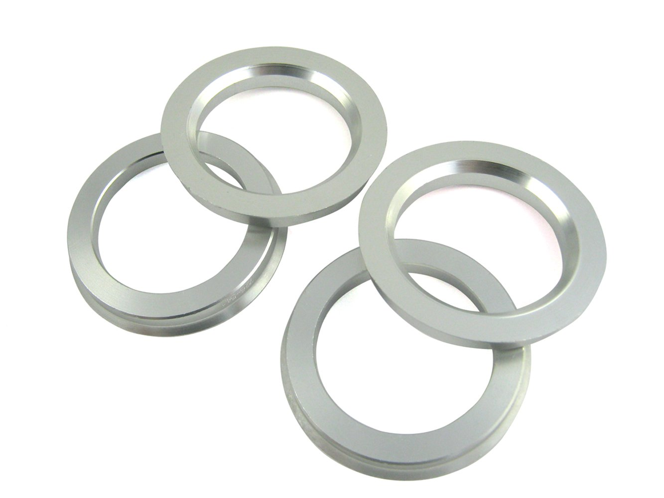4 Pieces - Hub Centric Rings - 72.6mm OD to 54.1mm ID - Aluminum Hubrings SunHome