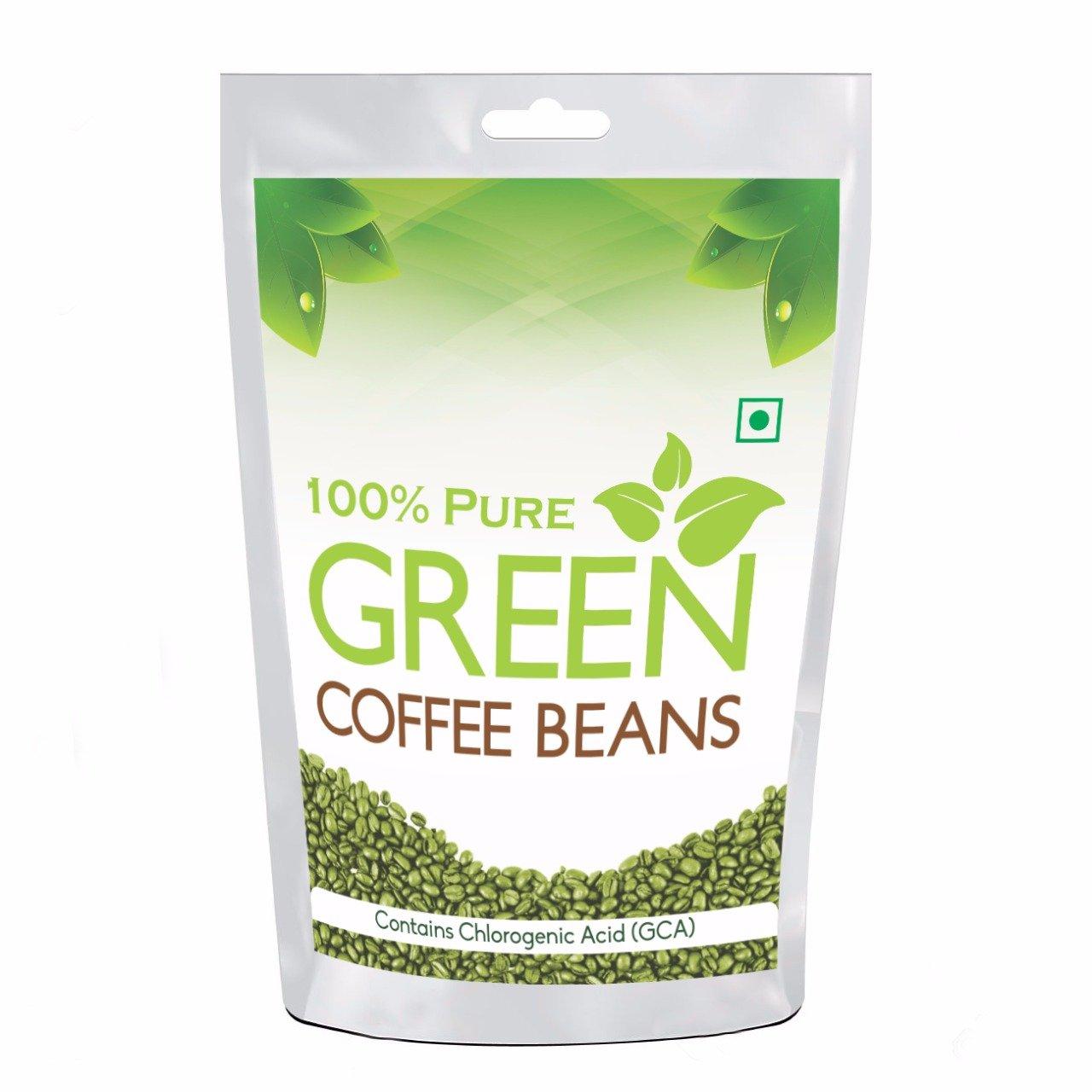 Buy Pure Organic Arabica Green Coffee Beans 200gm Decaffeinated