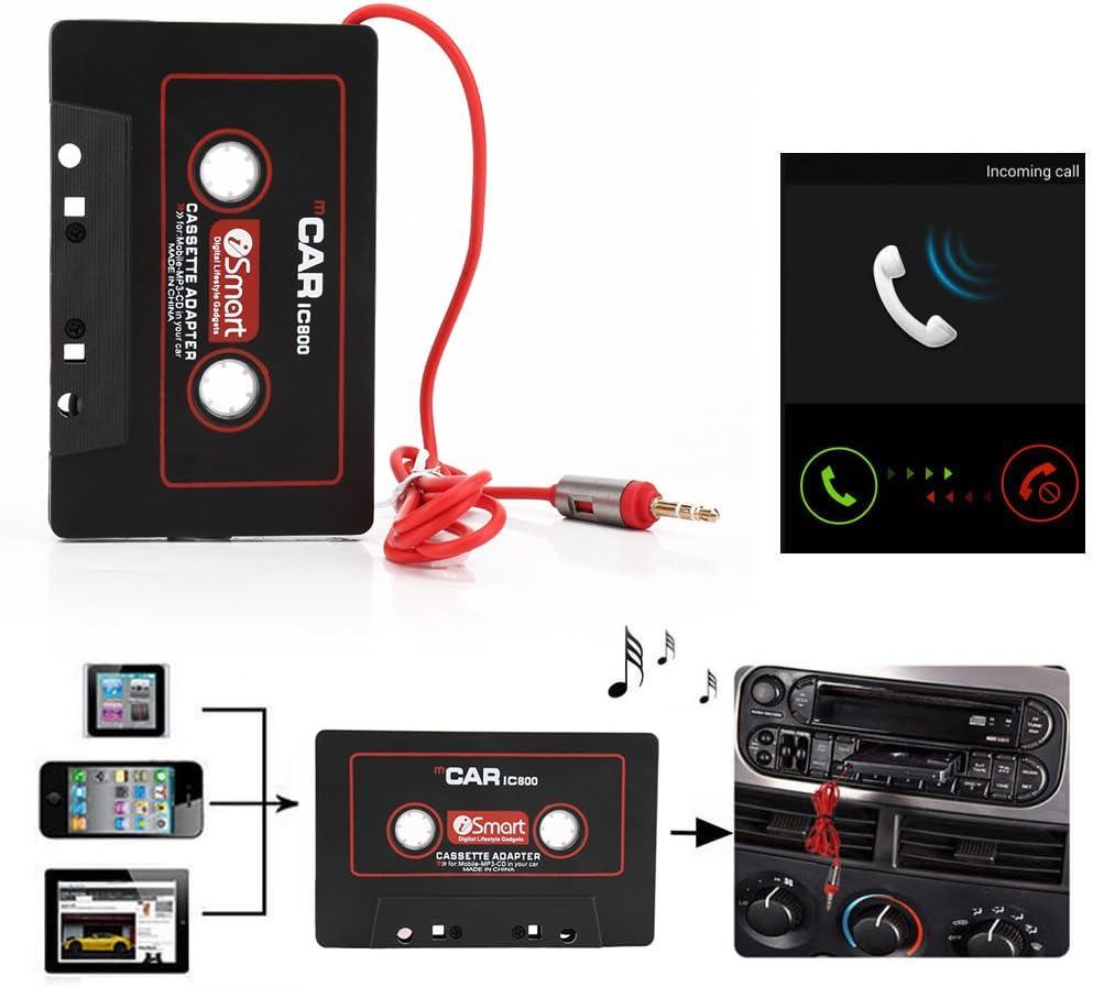 ZOMTOP 3.5mm Auto AUX Audio Tape Cassette Convertitore adattatore per auto Radio CD Lettore MP3 Registratore a nastro magnetico Registratore Ricevitore Cassette