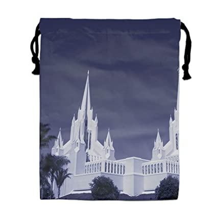 78b746cccb95 Amazon.com | Drawstring Gym Sport Bag San Diego California Temple ...