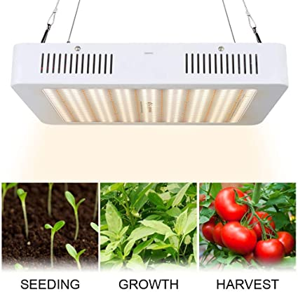 3400w Led Grow Light With Veg Bloom Switch 3 Chips Led Plant Grow Lamp Full Spectrum With Daisy Chain For Indoor Plants Veg And Flower