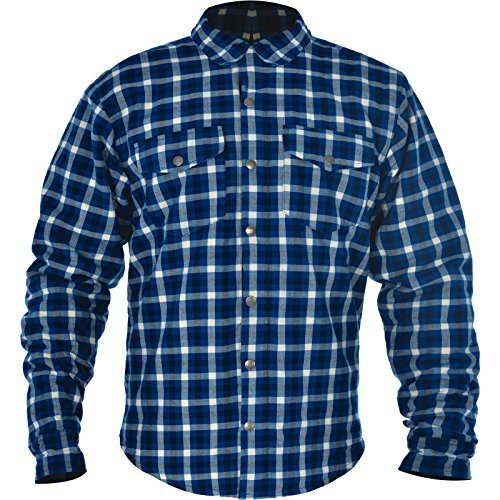 Oxford Men's Kickback Kevlar Shirt (Blue/White, Large/42)