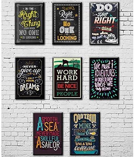 40 x 60 cm GDDD Poster Inspirierende Poster Poster mit inspirierenden Zitaten ohne Rahmen perfekt f/ür Schule Klassenzimmer und B/üro Dekoration Schwarz Kreidetafel-Design