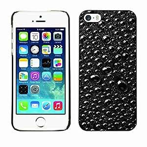 Planetar® ( Rain Raindrops Black & White Macro ) Fundas Cover Cubre Hard Case Cover Apple iPhone 5 / 5S