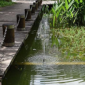 1.4 Watt Solar Power Water Pump Garden Fountain Submersible Pump Garden Plants Watering Kit 1.4W