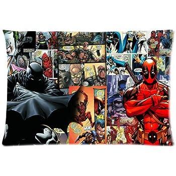 Amazon.com: Superhéroe Batman vs Deadpool Funda de almohada ...
