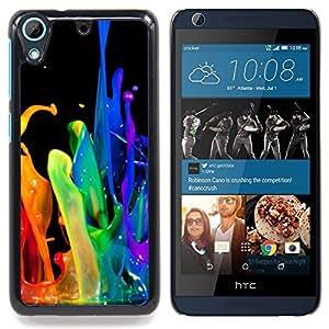 /Skull Market/ - Dynamic Drop Rainbow Black Gay For HTC Desire 626 & 626s - Mano cubierta de la caja pintada de encargo de lujo -
