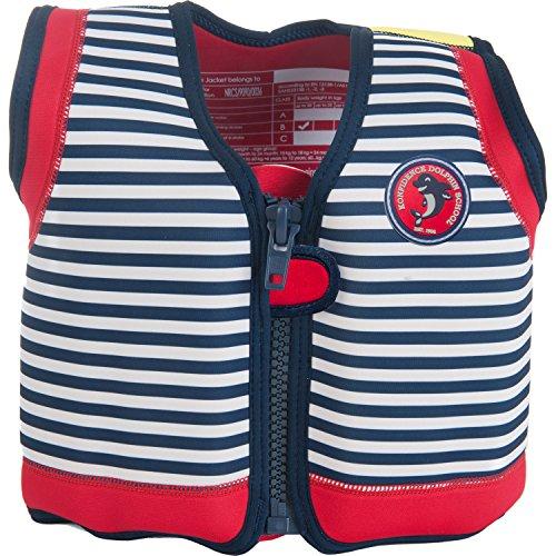 - Konfidence The Original Children's Swim Jacket (Hamptons Navy Stripe, 18 Months - 3 Years)