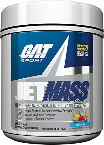 GAT Sport JetMass Fast-Acting Volumizing Creatine System, Tropical Ice, 30 Servings
