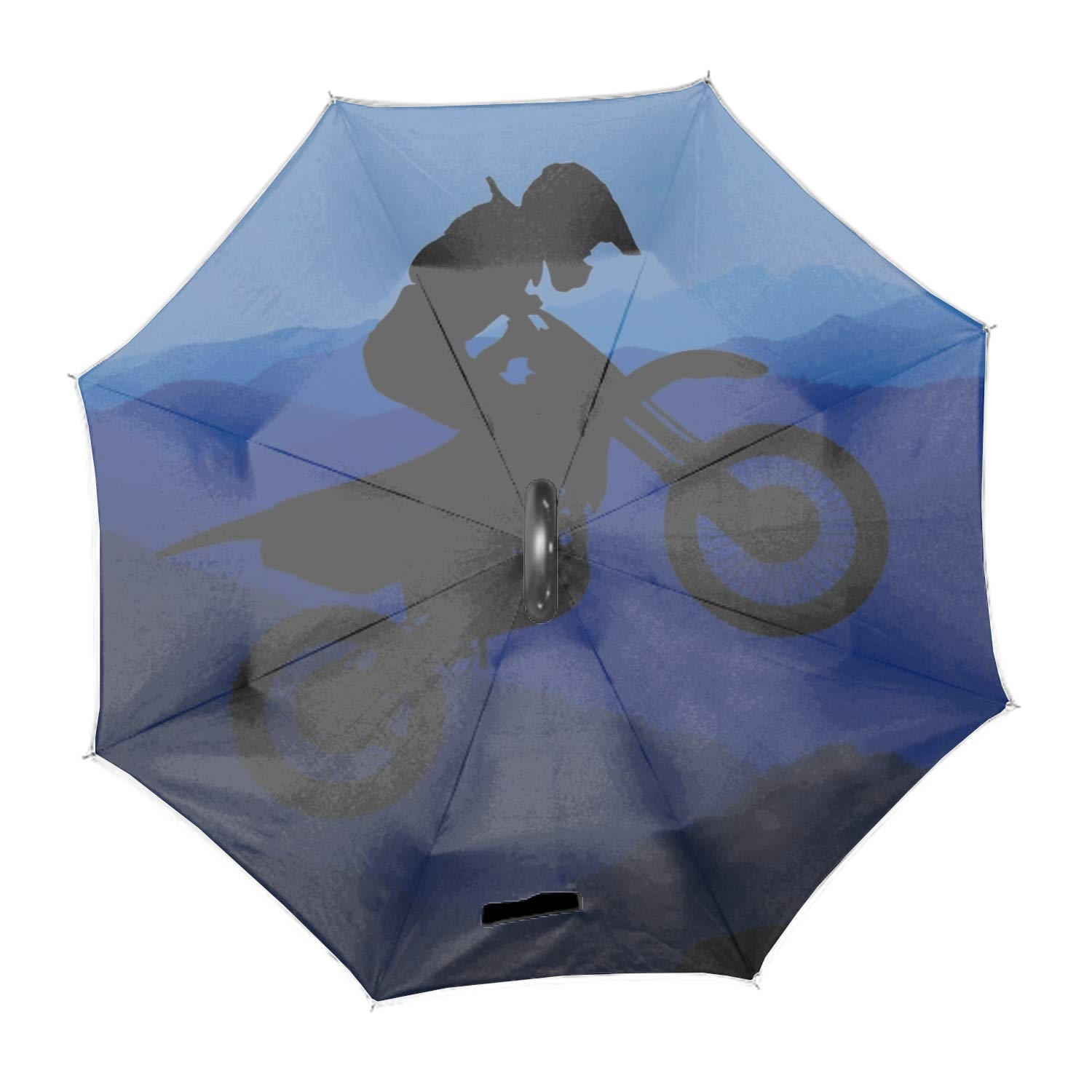 Travel Umbrella Windproof,8 Ribs Finest Large Compact Umbrella Windproof,Auto Open Close Umbrellas For Women and Men,Blue