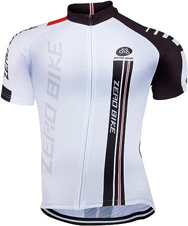zero Bike® Hombre Bicicleta Camisa bicicleta Top Ciclismo Maillot de ciclismo de manga corta camiseta de ciclismo bicicleta
