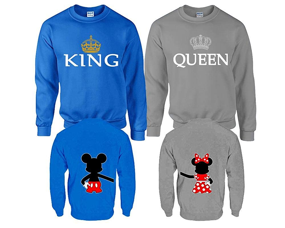 King and Queen Sweaters Matching Sweaters Disney Mickey Minnie Couple Sweaters
