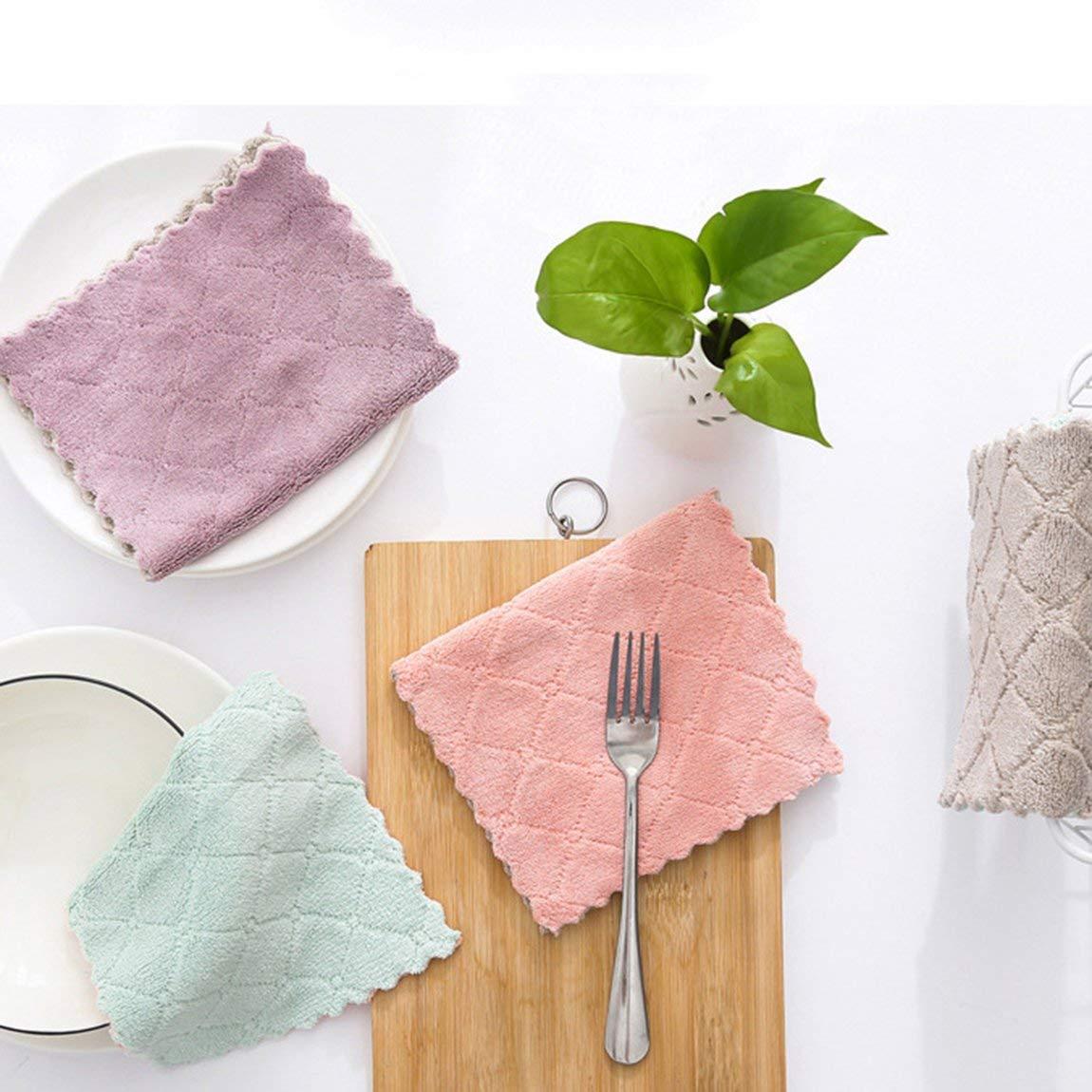 73JohnPol Chiffons de Nettoyage Tout Usage en Microfibre pour essuyer Les Chiffons /à /épousseter hautement absorbants et sans Peluche pour la Maison et la Cuisine caf/é Vert