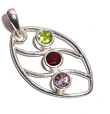 mughal gems /& jewellery 925 Sterling Silver Ring Natural Peridot Gemstone Fine Jewelry Ring Size 6.5 U.S