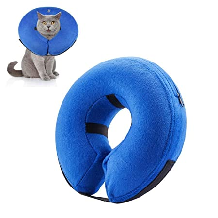 KOBWA Collar Hinchable para Mascotas, Protector Ajustable ...
