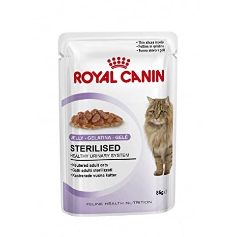 Royal Canin Sterilised, Gelat para Gatos, 85 g