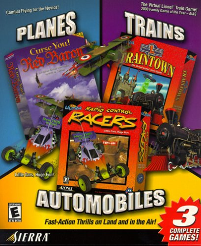Planes, Trains & Automobiles: Curse You! Red Baron/3D Ultra Lionel Traintown/3D Ultra Radio Control Racers - PC