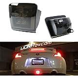 iJDMTOY Smoked Lens Rear Fog Light LED Assembly For 2009-up Nissan 370Z & Nismo Juke (Integrated Rear Fog Light, Brake Light, Backup Light Features)