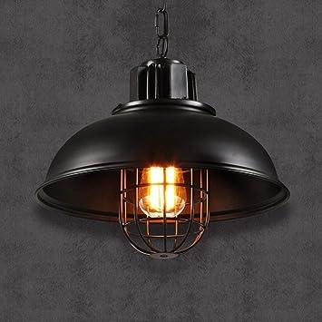 031cbb04b34 Crayom 1-Light Retro Fisherman Iron Metal Cage Lampshade Loft Ceiling  Pendant Light Industrial Vintage