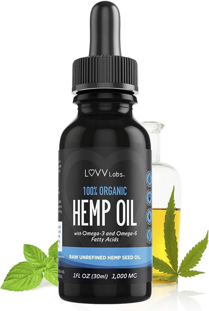 LUVV Labs Organic Vegan Hemp Oil Drops