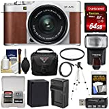Fujifilm X-A5 Wi-Fi Digital Camera & 15-45mm XC Lens (Brown) 64GB Card + Battery & Charger + Case + Tripod + Flash + Filter + Kit