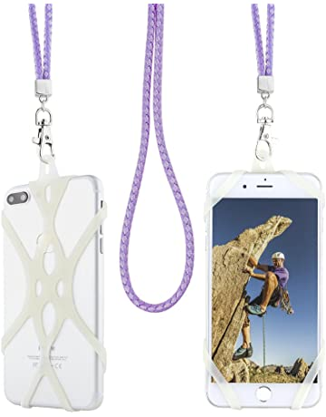 Crossbody Phone Lanyards for Neck Adjustable Wrist Straps as Phone Grip Compatible with most Phone Cases Sinji Strap Sinjimoru Universal Cell Phone Strap 2Pack Burgundy Mix